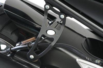 GSG Moto Auspuffhalter Schwarz eloxiert Yamaha FZ1 RN16 2006-2015 FZ-1 NEU