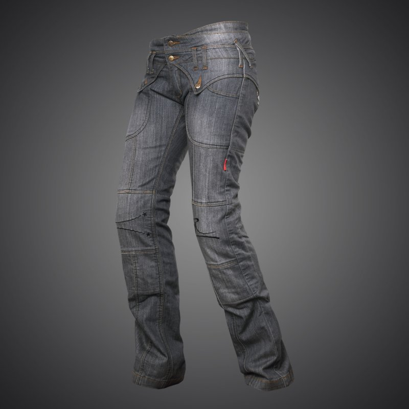 4sr damen motorradjeans jeans lady star grey. Black Bedroom Furniture Sets. Home Design Ideas