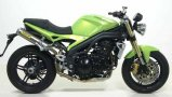 Arrow Round-Sil, Triumph Speed Triple 1050 ab 05-10, Carbon / Titan